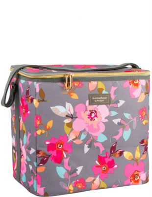 Gardenia Family Cool Bag Grey Floral