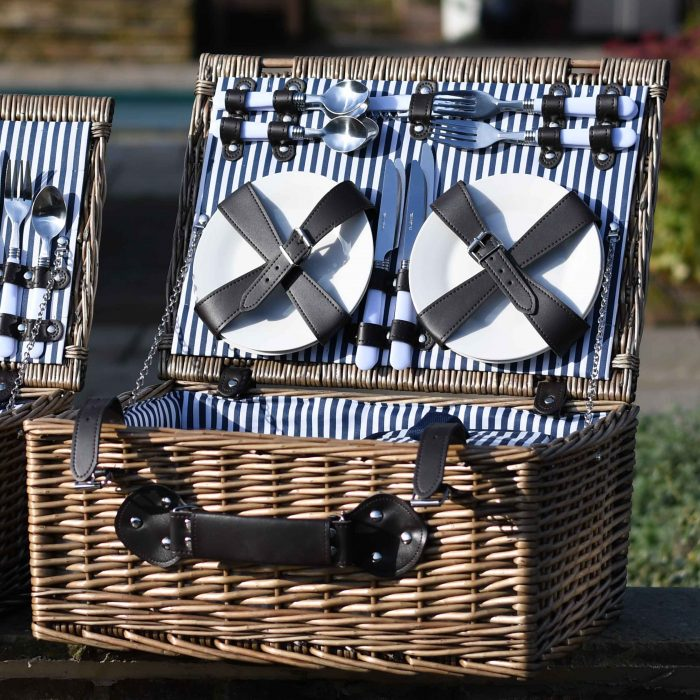 4 Person Insulated Wicker Basket