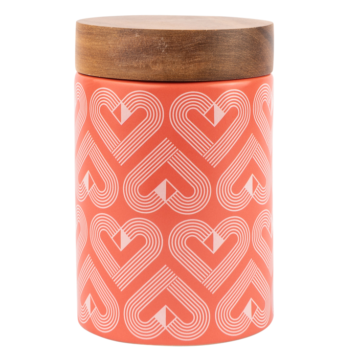 VIBE Coral Ceramic Canister