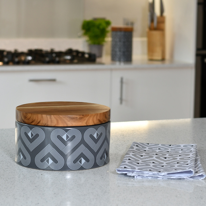 Vibe Slate Large Round Storage Jar