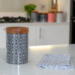 Vibe Slate Tall Ceramic Biscuit Jar
