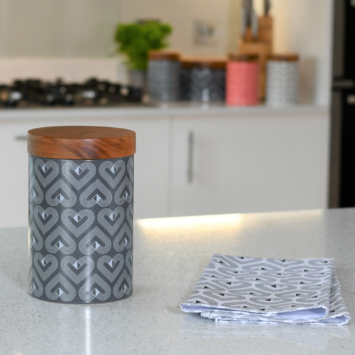 Vibe Slate Tall Ceramic Biscuit Jar