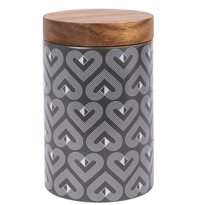 VIBE Slate Tall Storage Jar