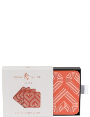 VIBE Coral Coasters Set of 4