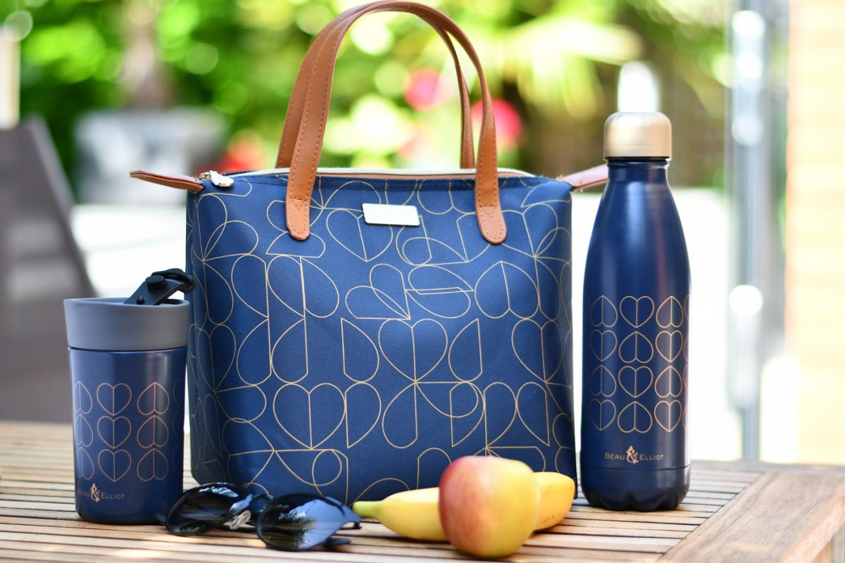 Navy Lunch Tote, Travel Mug & Drinks Bottle
