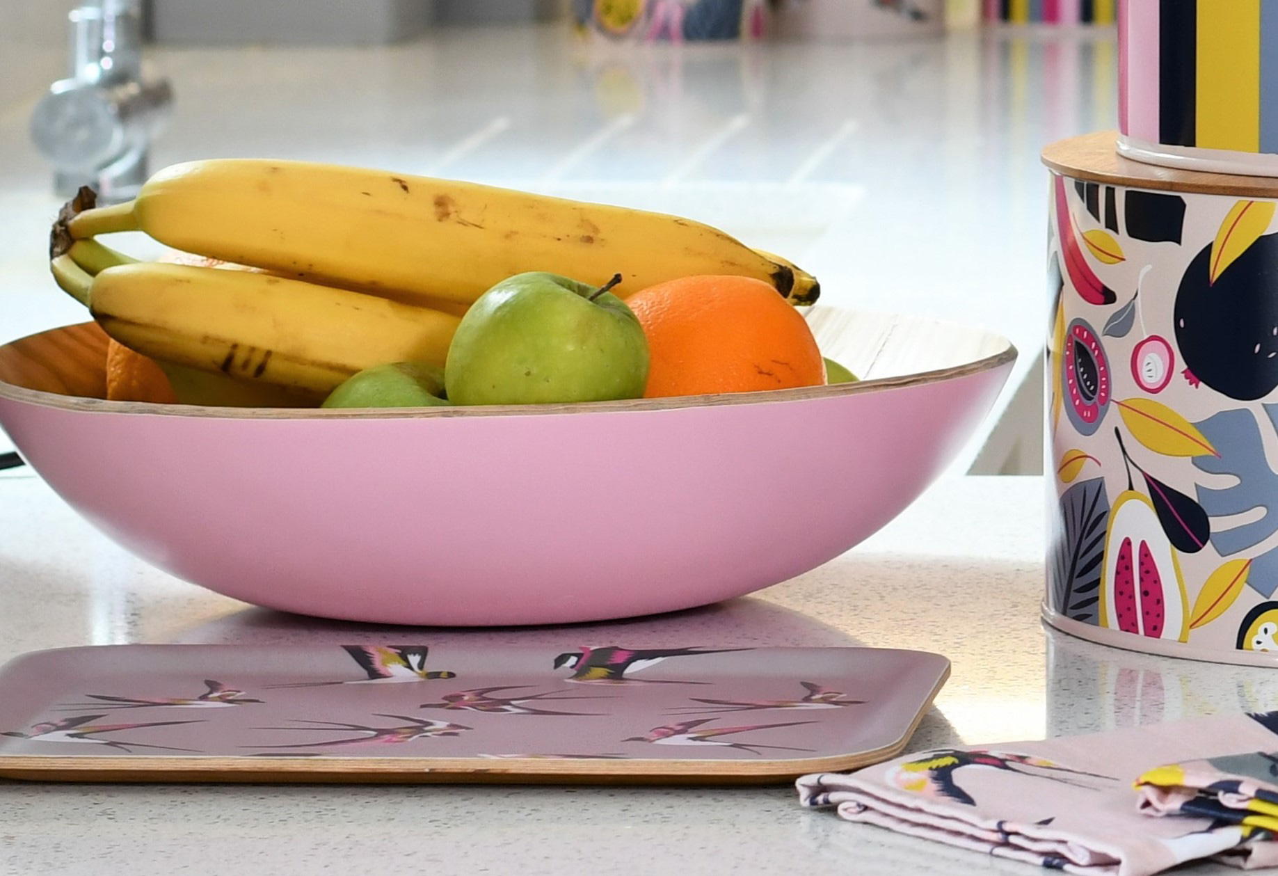 Candy Pink Fruit Bowl