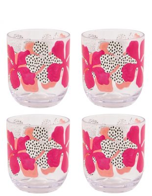 Tribal Fusion Set of 4 Tumblers