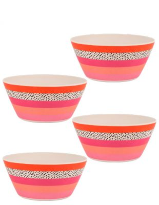 Tribal Fusion Set of 4 Dessert Bowls