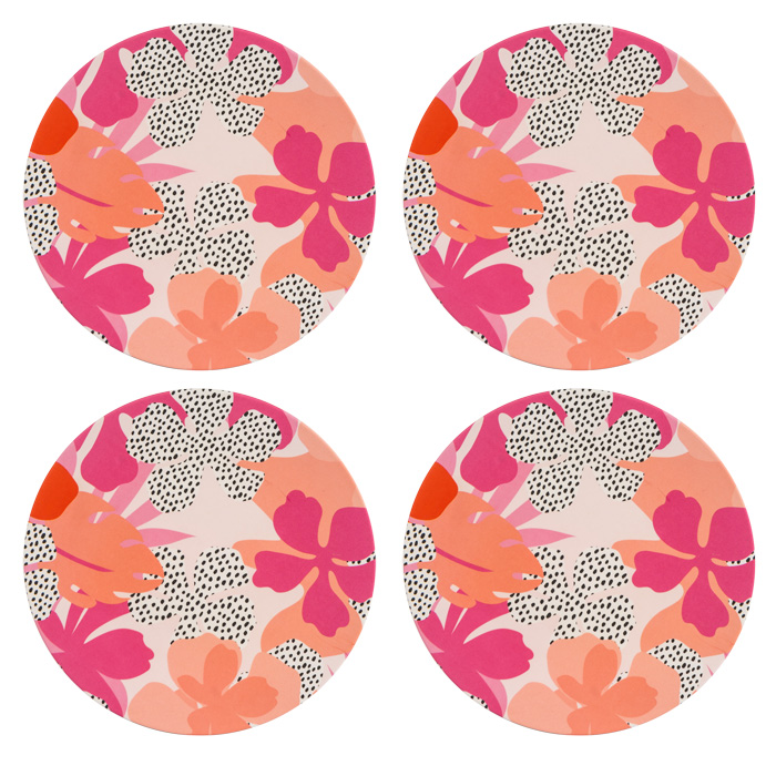 Tribal Fusion Set of 4 Dinner Plates