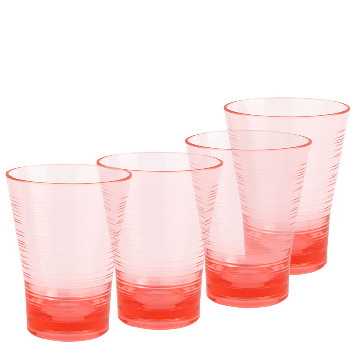 Set of 4 Candy Pink Tumblers