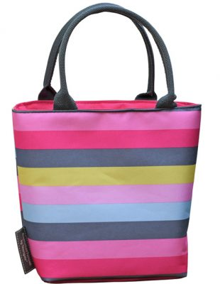 Gardenia Stripe Insulated Lunch Tote