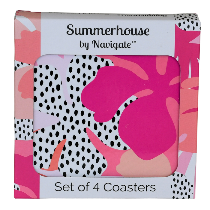Tribal Fusion Floral Coasters Set of 4