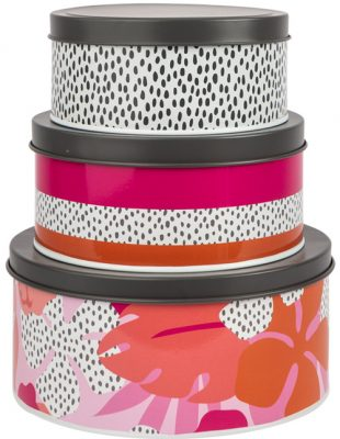Tribal Fusion Trio of Nesting Tins