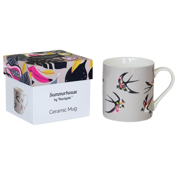 Swallows Mug in Gift Box