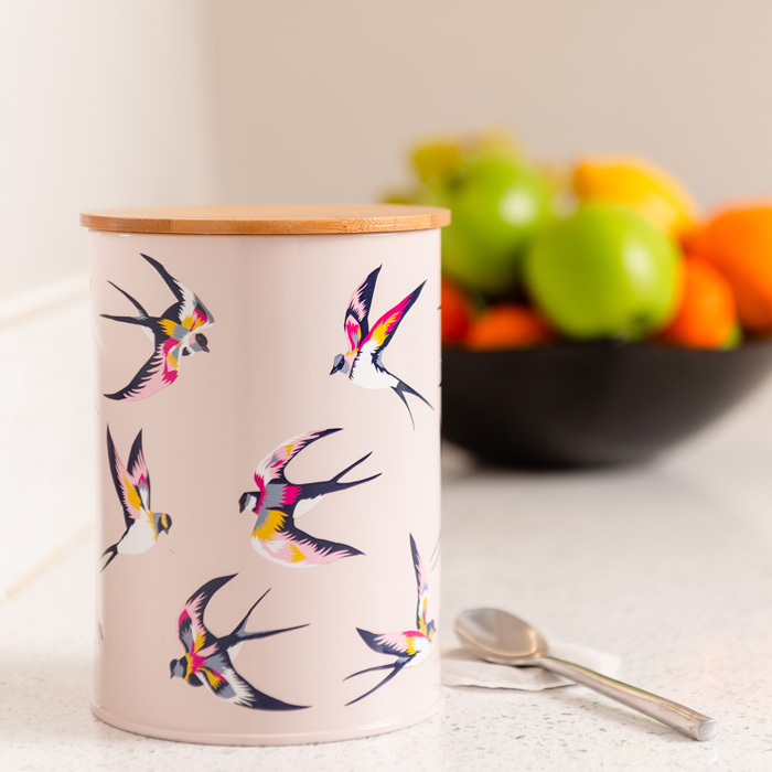 Guatemala Swallows Canister with Bamboo Lid