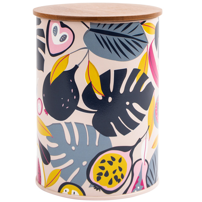 Guatemala Tropical Canister with Bamboo Lid