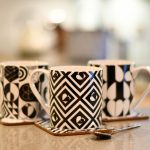 Monochrome Tile Mug